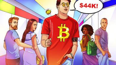 تصویر از افزایش قیمت بیت کوین به ۴۴ هزار دلار، زیان های سقوط ماه می را جبران کرد