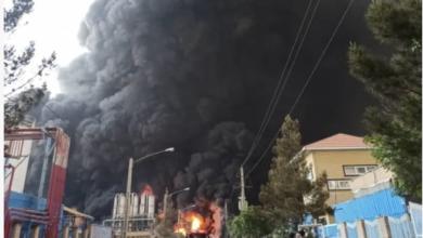 تصویر از آتشسوزی در پتروشیمی منطقه ویژه اقتصادی ماهشهر؛ نگاهها به سوی اسرائیل است