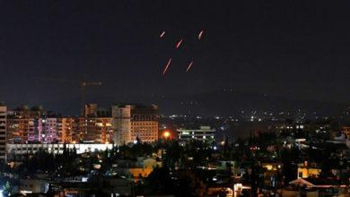 تصویر از حمله موشکی اسرائیل به مواضع حزبالله و شبهنظامیان ایران در حومه دمشق