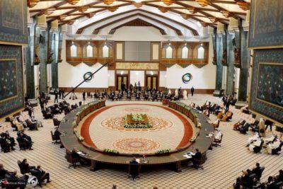 نخست وزیر امارات و وزیر خارجه ایران در حاشیه کنفرانس بغداد دیدار کردند