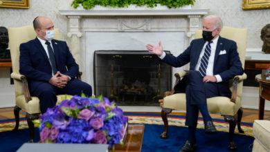 تصویر از جو بایدن به نخست وزیر اسرائیل می گوید که ابتدا با ایران دیپلماسی را امتحان می کند