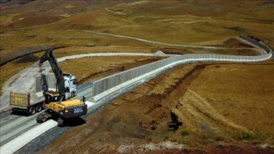 تصویر از ترکیه در حال ساخت دیوار در امتداد مرز خود با ایران است