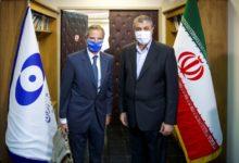 تصویر از دیدار رافائل گروسی و محمد اسلامی در تهران ؛ توافق ایران و آژانس برای ادامه مذاکرات فنی
