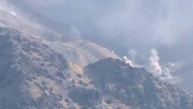 تصویر از حمله پهپادی سپاه پاسداران به مواضع نیروهای کرد در داخل اقلیم کردستان در شمال عراق