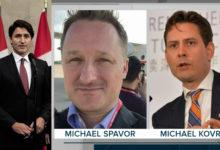 تصویر از نخستوزیر جاستین ترودو گفت که مایکل کووریگ و مایکل اسپاوور در راه بازگشت به خانه در کانادا هستند