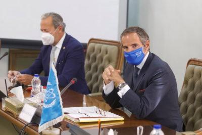دیدار رافائل گروسی و محمد اسلامی در تهران ؛ توافق ایران و آژانس برای ادامه مذاکرات فنی