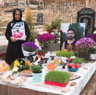 بهیه نامجو مادر برادران افکاری در سالگرد اعدام نوید : چرخ حیات جمهوری اسلامی با خون میچرخد