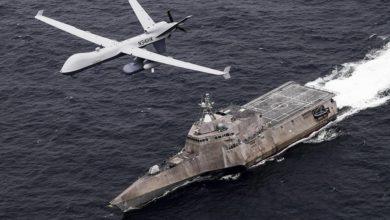 تصویر از ناوگان پنجم نیروی دریایی آمریکا یگان پهپادی و سیستمهای بدون سرنشین را در خلیج فارس راهاندازی میکند