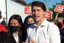 تصویر از جاستین ترودو در روز پایانی کارزار انتخاباتی دست به دامان آراء استراتژیک شد