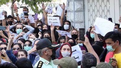 تصویر از نرگس محمدی: ماموران پلیس در تجمع اعتراضی مقابل سفارت پاکستان به یک زن تعرض کردند