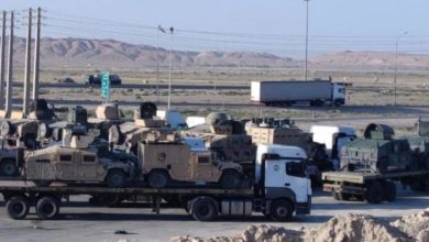 تصویر از انتقال شماری تانک و خودروی زرهی آمریکایی از افغانستان به ایران